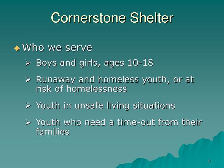 Cornerstone Shelter