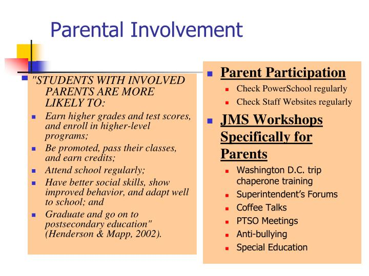 """STUDENTS WITH INVOLVED PARENTS ARE MORE LIKELY TO:"