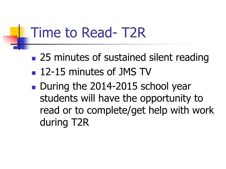 Time to Read- T2R