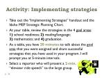 activity implementing strategies