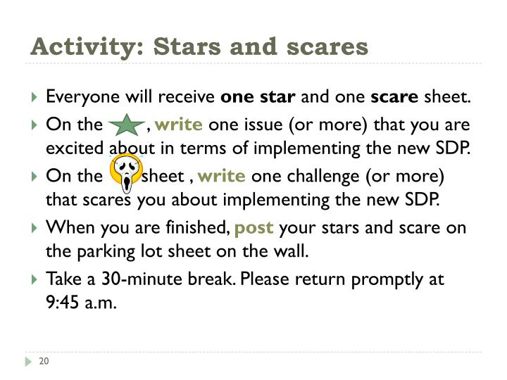 Activity: Stars and scares