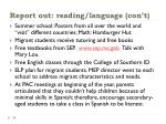 report out reading language con t