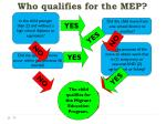 who qualifies for the mep