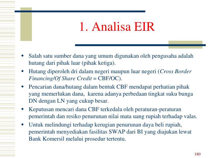 1. Analisa EIR