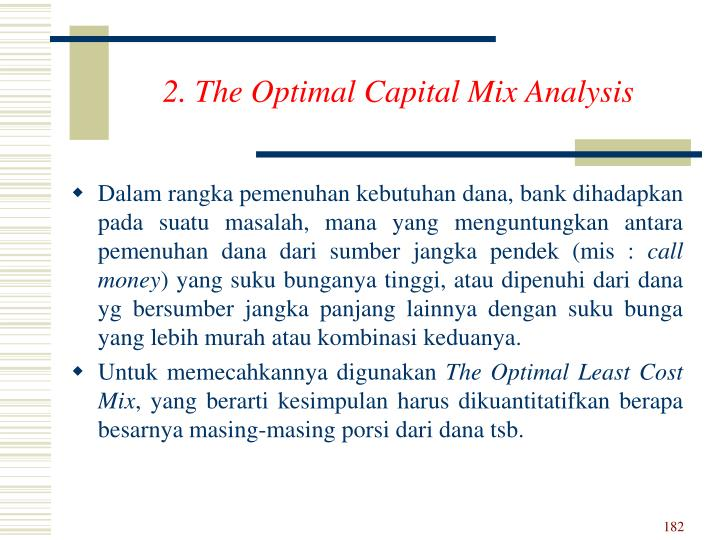 2. The Optimal Capital Mix Analysis