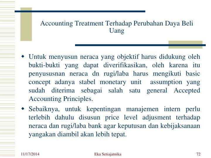 Accounting Treatment Terhadap Perubahan Daya Beli Uang