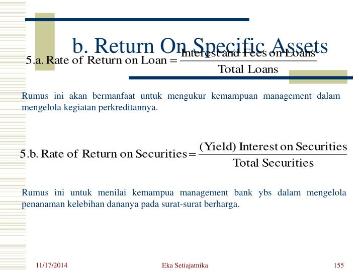 b. Return On Specific Assets