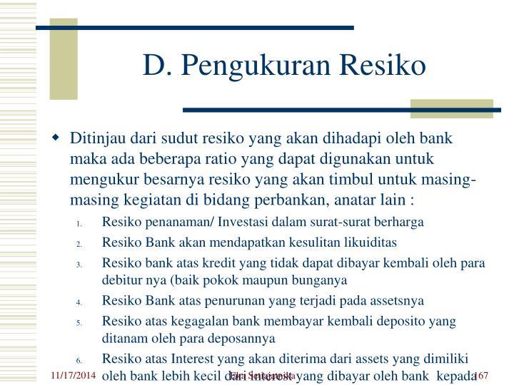 D. Pengukuran Resiko