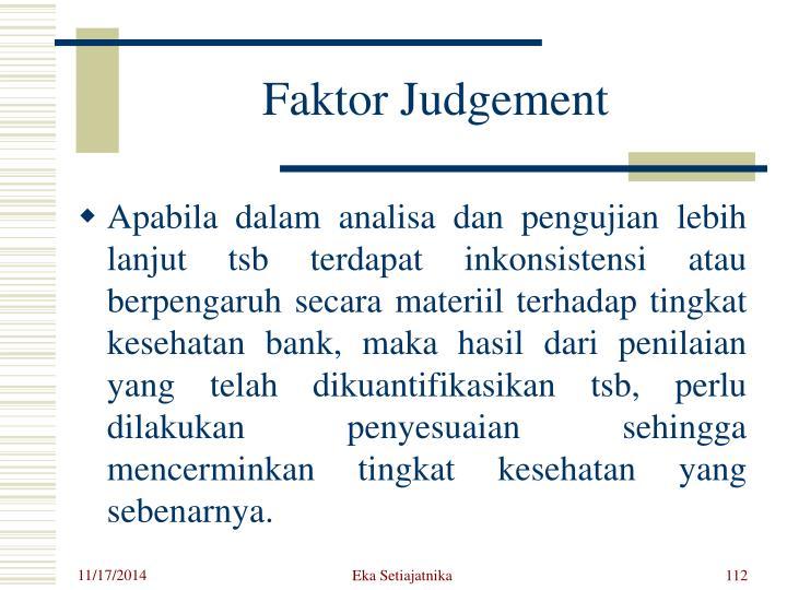 Faktor Judgement