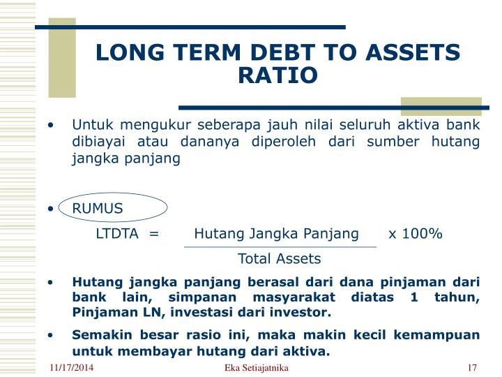 LONG TERM DEBT TO ASSETS RATIO
