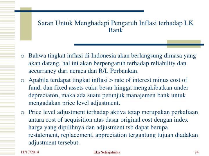 Saran Untuk Menghadapi Pengaruh Inflasi terhadap LK Bank