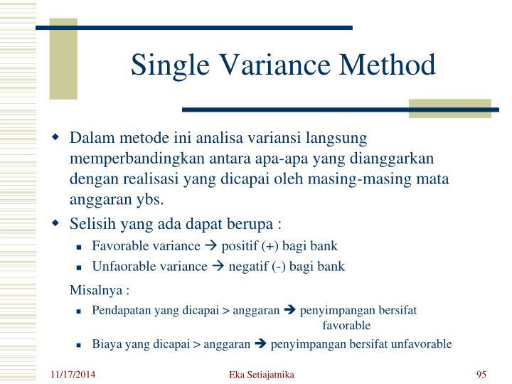 Single Variance Method