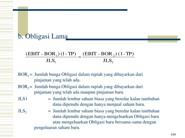 b. Obligasi Lama