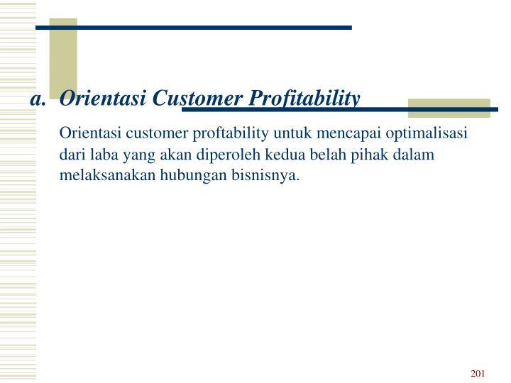 Orientasi Customer Profitability