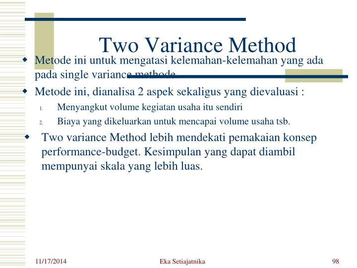 Two Variance Method