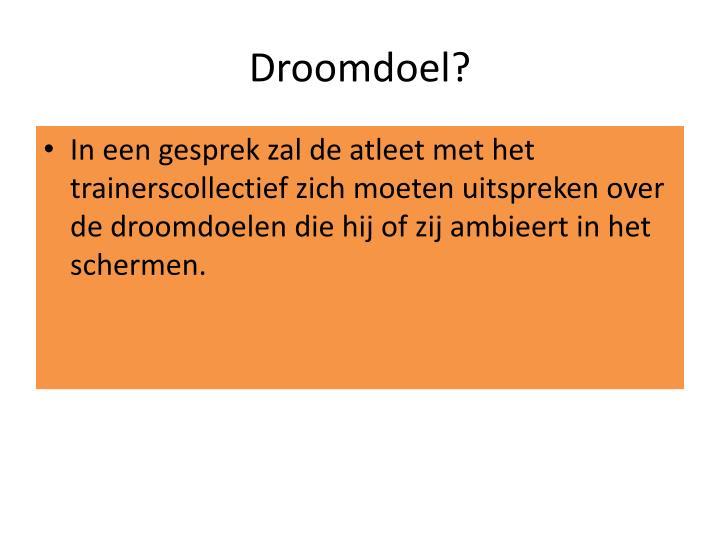 Droomdoel?