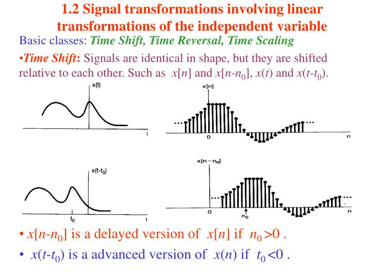1 2 signal transformations involving linear transformations of the independent variable