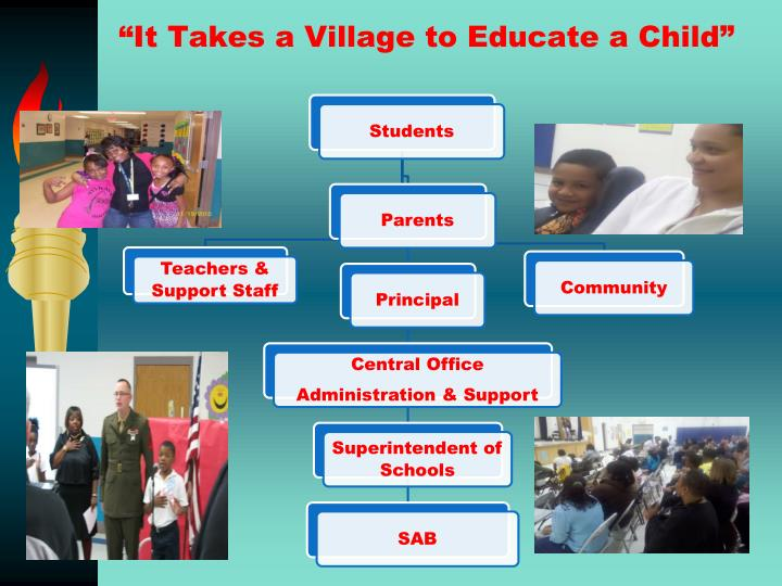 """""""It Takes a Village to Educate a Child"""""""