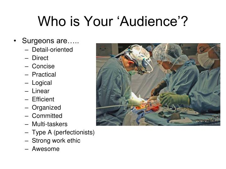 Who is Your 'Audience'?