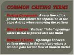 common casting terms1