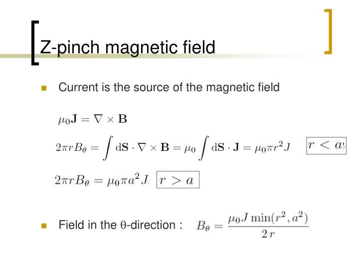 Z-pinch magnetic field