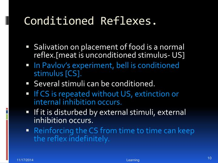 Conditioned Reflexes.