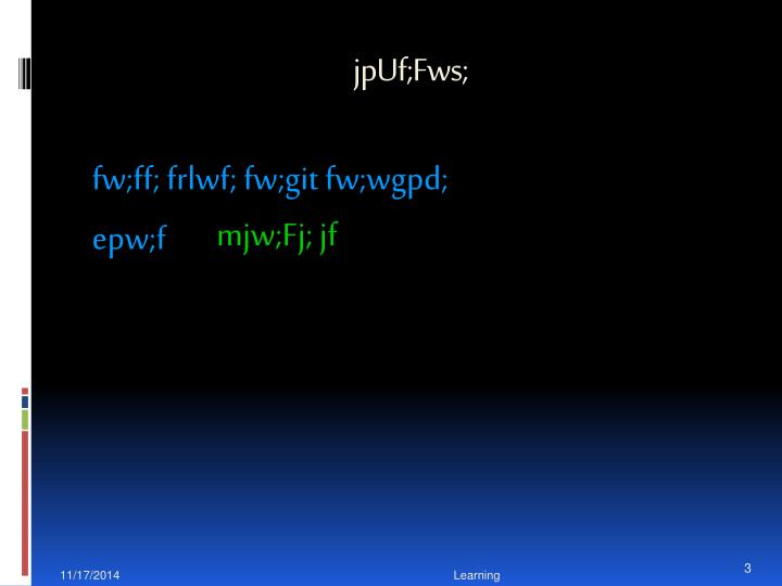 jpUf;Fws