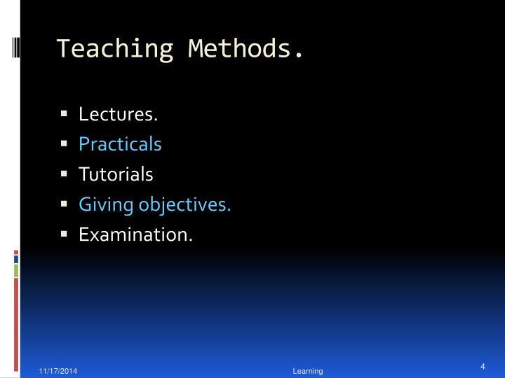 Teaching Methods.