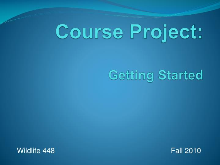 Course project getting started