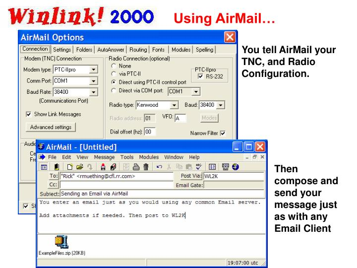 Using AirMail…