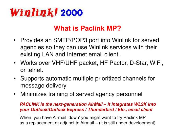 What is Paclink MP?