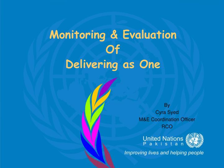 monitoring evaluation of delivering as one