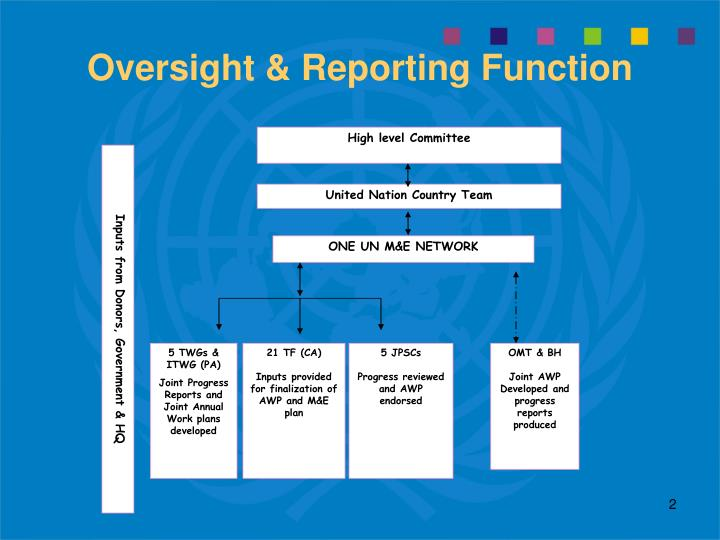 Oversight reporting function