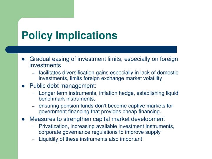 Policy Implications