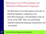 reference level descriptions for national or regional languages