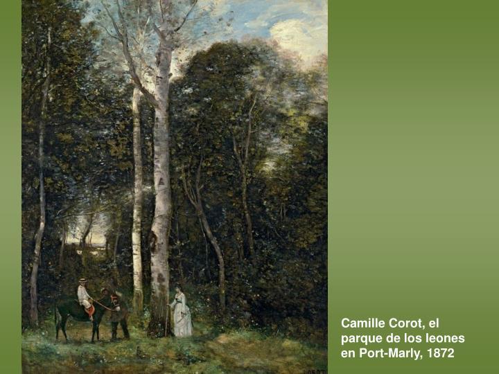 Camille Corot, el parque de los leones en Port-Marly, 1872