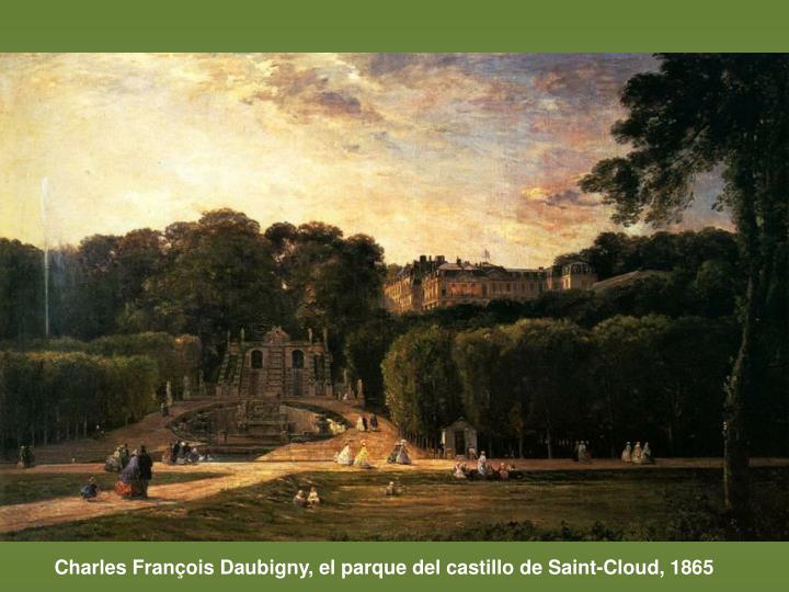 Charles François Daubigny, el parque del castillo de Saint-Cloud, 1865