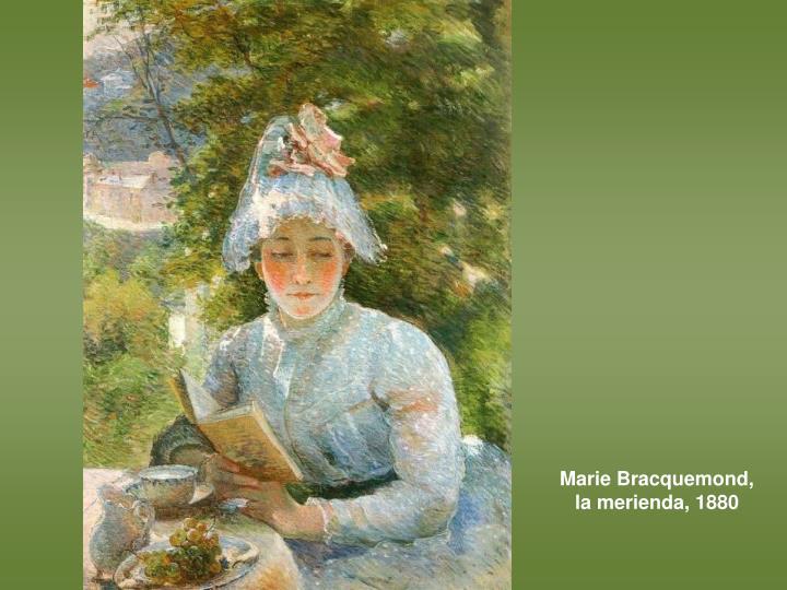 Marie Bracquemond, la merienda, 1880