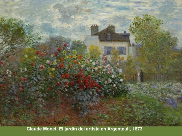 Claude Monet. El jardín del artista en Argenteuil, 1873