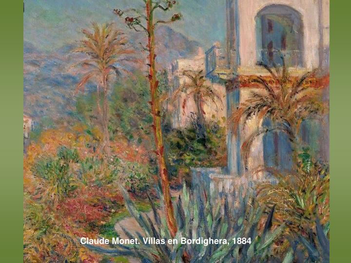 Claude Monet. Villas en Bordighera, 1884