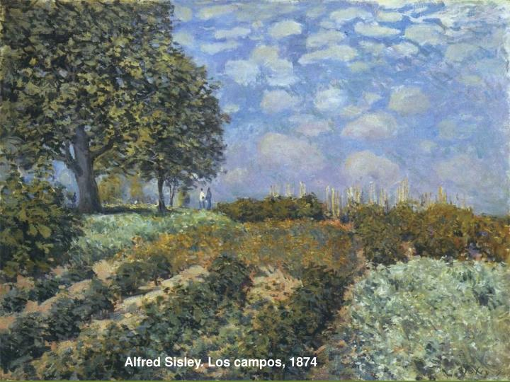 Alfred Sisley. Los campos, 1874