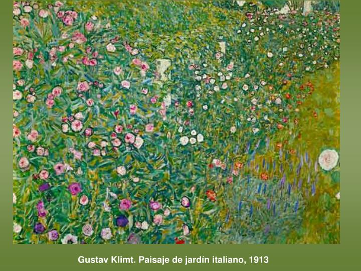 Gustav Klimt. Paisaje de jardín italiano, 1913