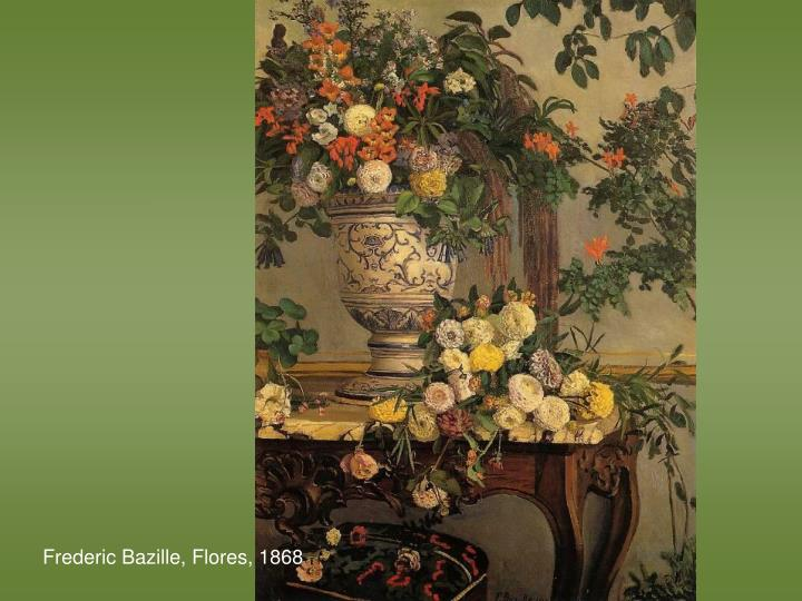 Frederic Bazille, Flores, 1868