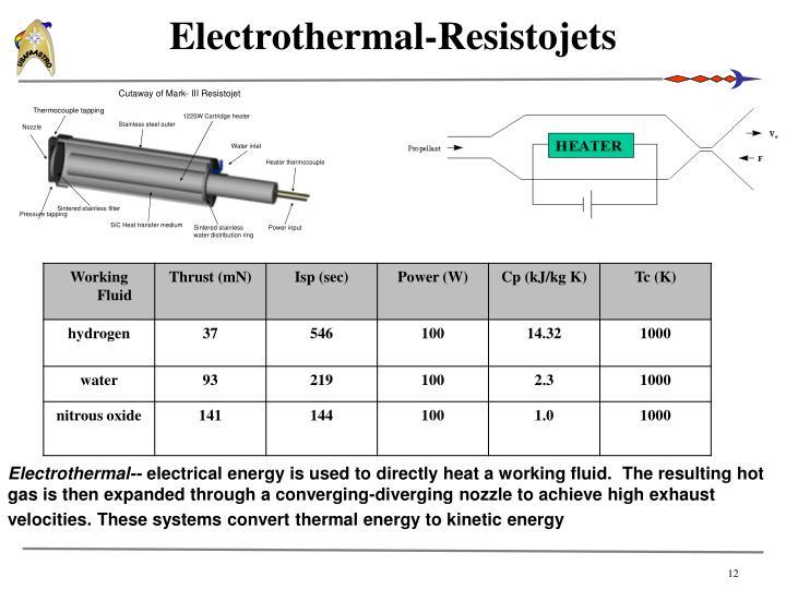Electrothermal-Resistojets