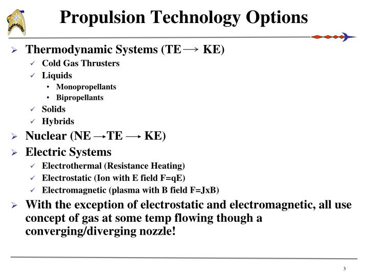 Propulsion technology options