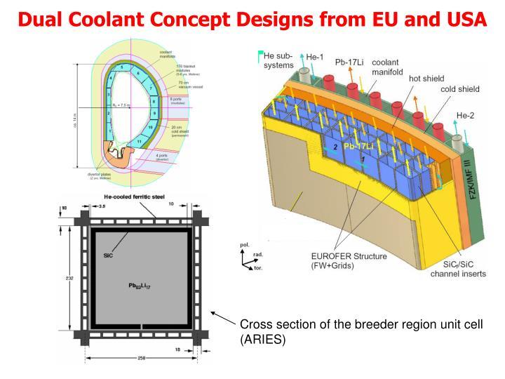 Dual Coolant Concept Designs from EU and USA