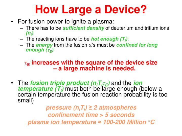 How Large a Device?