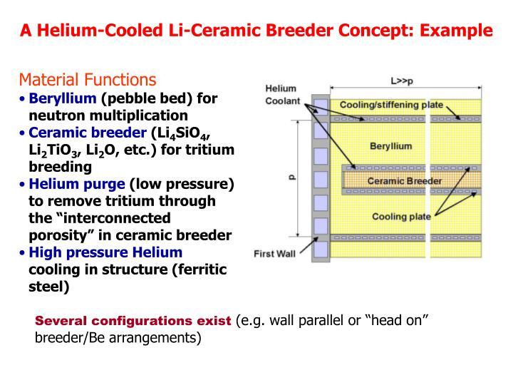 A Helium-Cooled Li-Ceramic Breeder Concept: Example