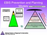 ebis prevention and planning models