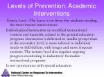 levels of prevention academic interventions2